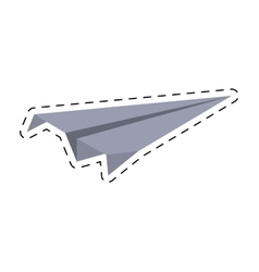 Paper plane model air cut line vector