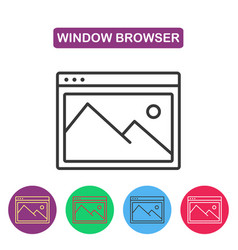 picture icon browser window image vector image vector image