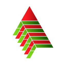 Pyramid food assembly Logo vector image