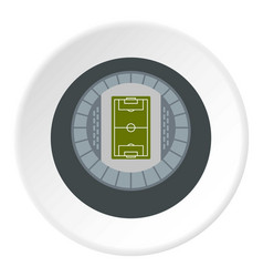 Round stadium top view icon circle vector