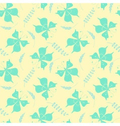Seamless pattern with butterflies and floral vector image vector image