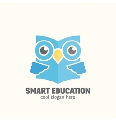 Smart education abstract logo template vector