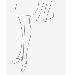 The outline of the legs of a young girl vector image