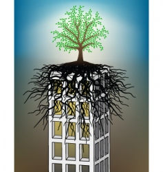 tower block tree vector image