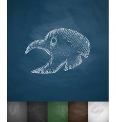 Turkey icon hand drawn vector