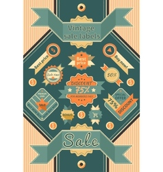 Vintage sale labels vector image vector image