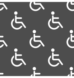 Wheelchair seamless pattern vector