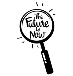 Word expression for future is now vector