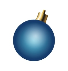 Christmas ball ornament icon vector