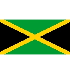 Flag of jamaica in correct proportions and colors vector