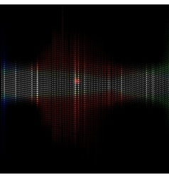 Abstract background of colorful equalizer vector