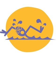 Swimmer logo vector