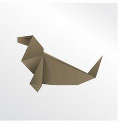 origami seal vector image