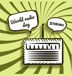 World radio day vector