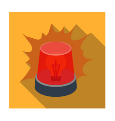 Emergency rotating beacon light icon in flat style vector
