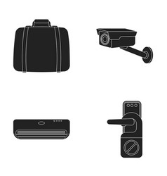 luggage surveillance camera air conditioning do vector image