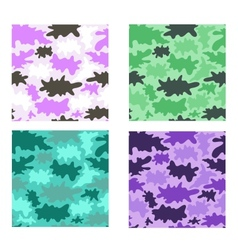 Stylized camouflage seamless vector