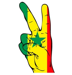 Peace sign of the senegalese flag vector