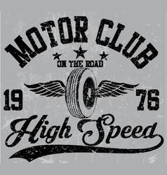 motorcycle club emblem graphic design vector image