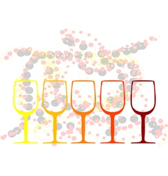 Abstract background with a glasses of wine vector