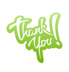 Thank you lettering sticker vector