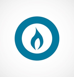 Fire bold blue border circle icon vector