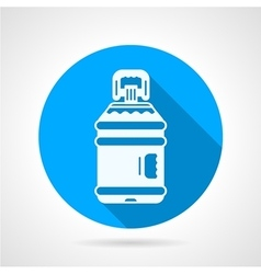 Bottle of water blue round icon vector