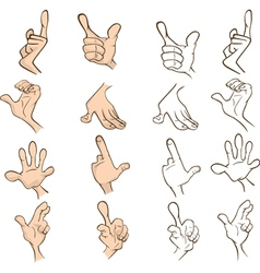 Set of hands for you design cartoon vector