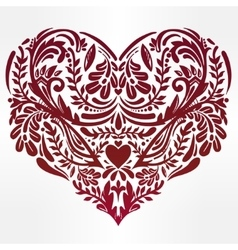 Heart - rustic decorative ornate lace design vector