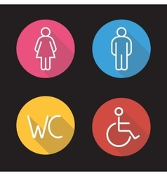 Wc toilet entrance signs vector