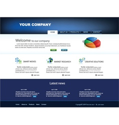 Glossy website template vector
