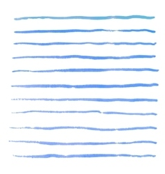 Watercolor stripes strokes brushes vector