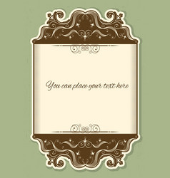 Antique background scroll with decor vignettes vector