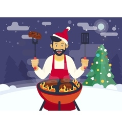 BBQ cooking party vector image