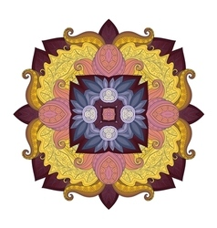 Beautiful Deco Colored Contour Square vector image vector image