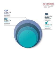 circle arrows infographics set element vector image