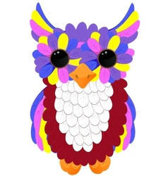 Colorful owlet vector