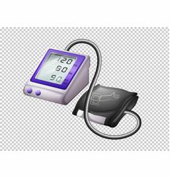 digital blood pressure monitor on transparent vector image