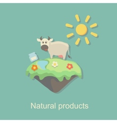 Eco natural product design vector
