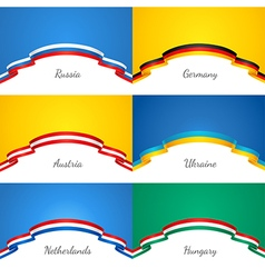 Flags background set vector