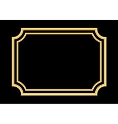 Gold frame beautiful simple golden black vector