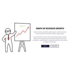 graph of business growth on vector image