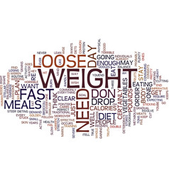Loose weight fast text background word cloud vector