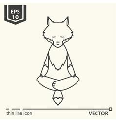 Meditative animals series - wolf vector