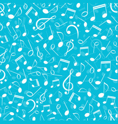 musical seamless pattern with notes vector image vector image