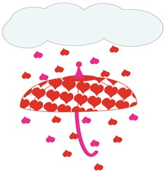 Raining Hearts vector image vector image