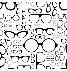 seamless pattern from glasses vector image vector image