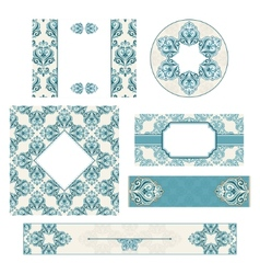 Set of vintage invitation cards vector image