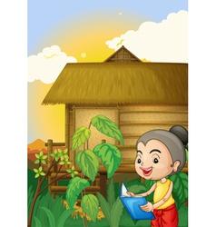 Thai scene vector image vector image