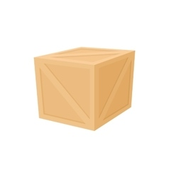 Wooden box icon cartoon style vector image vector image